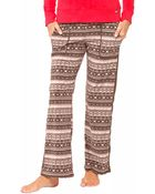 DKNY Fair Isle Fleece Pajama Pants - Lyst