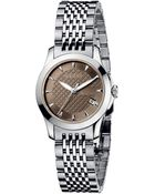 Gucci Round Stainless Steel Bracelet Watch - Lyst