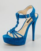 Rachel Zoe Valerie Braided Platform Sandal Blue - Lyst