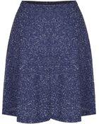 Topshop Speckle Skater Skirt - Lyst