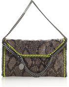 Stella McCartney Python Triple Handle Bag - Lyst