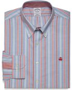 Brooks Brothers Non Iron Slim Fit Alternating Framed Triple Stripe Sport Shirt - Lyst
