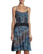 Proenza Schouler Triangle Mosaic Print Cami Dress - Lyst