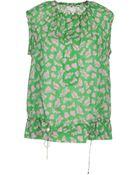Diane von Furstenberg Sleeveless Shirt - Lyst