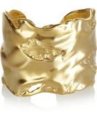 Kenneth Jay Lane 22karat Goldplated Cuff - Lyst