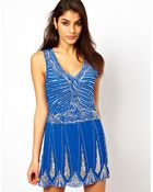 TFNC Deco Embellished Dress with Drop Waist - Lyst