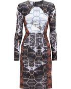 Cynthia Rowley Printed Neoprene Dress - Lyst