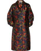 Lela Rose Printed Satin Coat - Lyst
