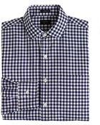 J.Crew Tall Ludlow Spread-Collar Shirt In Navy Gingham - Lyst