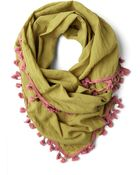 ModCloth Love and Lighthearted Scarf in Olive - Lyst