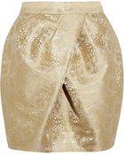 Vera Wang Brocade Mini Tulip Skirt - Lyst