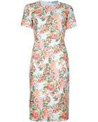 Stella McCartney Ridley Floral Jacquard Dress - Lyst
