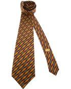 Céline Vintage Print Tie - Lyst