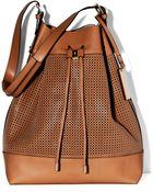 Vince Camuto Perf Drawstring Bag - Lyst