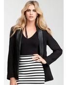 Bebe Shawl Collar Jacket - Lyst