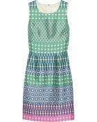 J.Crew Printed Wool and Silkblend Dress - Lyst