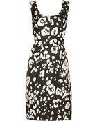 Oscar de la Renta Tulip Jacquard Silk Dress - Lyst
