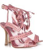 Oscar de la Renta Barry Leather Trimmed PVC Sandals - Lyst