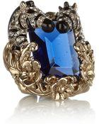 Roberto Cavalli Swarovski Crystal Zebra Ring - Lyst