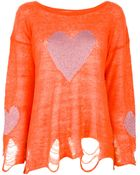 Wildfox Loose Knit Sweater - Lyst