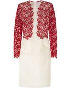 Giambattista Valli Floral-Lace and Silk-Organza Dress - Lyst