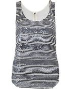 Armani Striped Sequin Top - Lyst