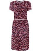 Sea Leopard Print Silk Dress - Lyst