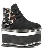 Jeffrey Campbell The Bandito Shoe in Black Suede and Silver - Lyst