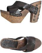 Goffredo Fantini Platform Sandals - Lyst