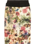 Preen By Thornton Bregazzi Cottage Printed Sateen and Wool Skirt - Lyst