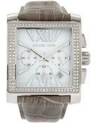 Michael Kors Gia Diamond Square Watch - Lyst