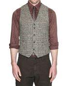 Bevilacqua Herringbone Tweed Waistcoat - Lyst