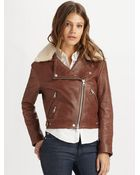Acne Studios Leather Bomber Jacket - Lyst