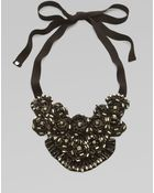 Elie Tahari Beaded Medallion Bib Necklace - Lyst