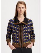Jean Paul Gaultier Geometric Print Zip Jacket - Lyst