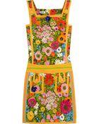 Moschino Floralprint Cotton Blend Mini Dress - Lyst