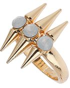 Topshop Triple Stone Spike Ring - Lyst
