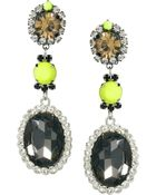ASOS Collection Asos Neon Blast Gem Drop Earring - Lyst