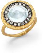 Kevia Circle Ring Blue Topaz - Lyst