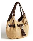 MICHAEL Michael Kors Braided Grommet Large Shoulder Bag - Lyst
