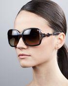 Gucci Open-Temple Square Sunglasses - Lyst