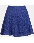 Topshop Lace Skater Skirt - Lyst