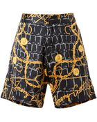 Jeremy Scott Scarf Printed Silk Shorts - Lyst