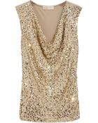 MICHAEL Michael Kors Sequined Jersey Top - Lyst