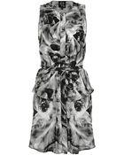 McQ by Alexander McQueen Iris Print Shirt Dress - Lyst