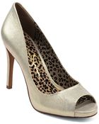 Jessica Simpson Saras Metallic Leather Pumps - Lyst