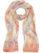 Matthew Williamson Linear Blossom Print Scarf - Lyst