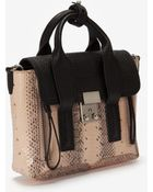3.1 Phillip Lim Mini Pashli Colorblock Snake Satchel Available in Store Only - Lyst