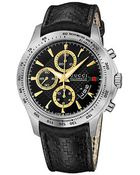 Gucci G-Timeless 44Mm Chronograph Leather Strap Watch-Ya126237 - Lyst