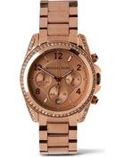 Michael Kors Mk5263 Blair Rose Gold-Plated Watch - Lyst